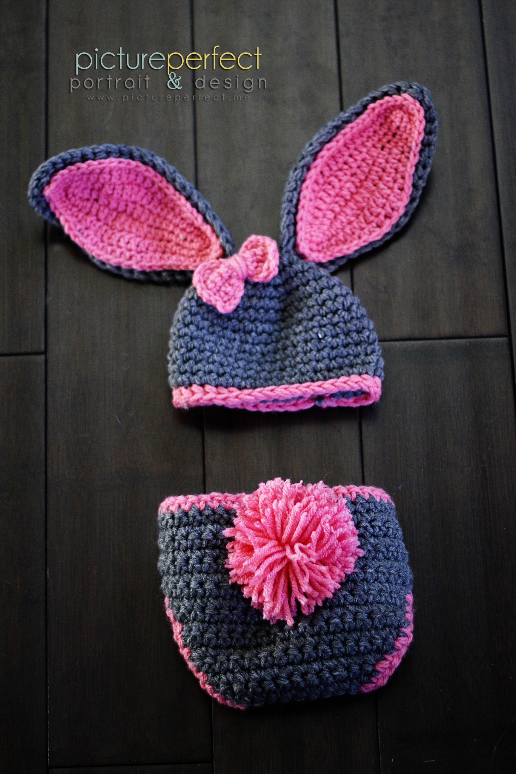 3959aac3c74 Baby Girl Bunny Hat Must See Too Cute Newborn Baby Boy Or Girl Crochet  Bunny Hat Diaper Cover Set Gi on Luulla